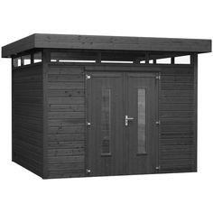 Abri de jardin en bois kluane naterial m p 12 mm for Abri de jardin autoclave classe 4 toit plat
