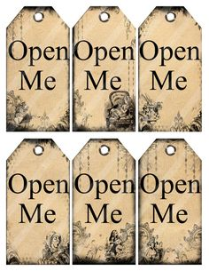 Alice in Wonderland printable tags digital by DigitalMagpie