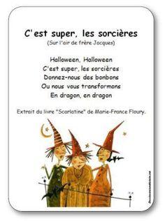 Comptine C'est super les sorcières pour l'Halloween