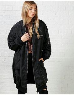black Ark Shany Long Bomber Jacket