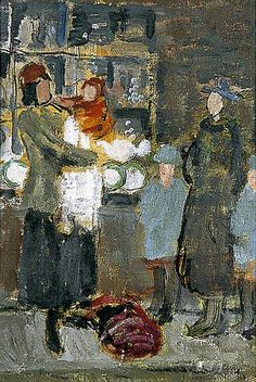 Queue at Lewes, East Sussex by Vanessa Bell  1935