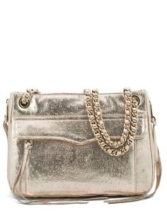 rebecca minkoff ostrich embossed swing