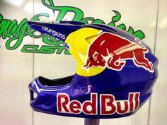 BMX Shanaze Reade Bluegrass helmet Redbull paintwork
