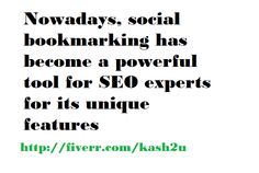 Nowadays, social bookmarking has become a powerful tool for SEO experts for its unique features. http://www.fiverr.com/kash2u/do-manually-200-social-bookmarking-with-unique-account-creation-for-each-order  #Fiverr #SEOservices