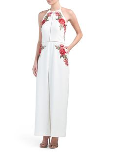0b55752138f Jumpsuit With Floral Appliques - Jumpsuits   Rompers - T.J.Maxx