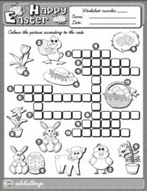 Easter Vocabulary Crossword Puzzle Worksheet