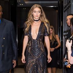 Gigi Hadid Wore a Plunging Neckline at The Daily Front Row's Annual Fashion Media Awards
