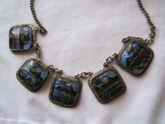 Vintage Butterfly Wing Necklace  Rio Souvenir by VintageInBloom, $55.00