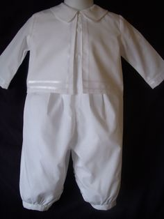 Infant Baby Boy 3 Piece Set Romper Christening Gown Baptism Outfit Sz 3 6 12 M Baby Christening Outfit, Baptism Dress, Christening Gowns, Baby Baptism, New Baby Boys, Baby Love, Baby Baby, Angel Gowns, Heirloom Sewing