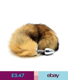 2d9041bff09 Fancy Dress Faux Fur Fox Tail Toy Stainless Steel Insert Plug-In Stopper  Cosplay Funny