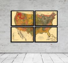 Geological Map Set of the United States  Circa by Cartographics