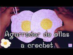 Agarrador de ollas en forma de huevo estrellado TUTORIAL PASO A PASO A CROCHET by Alexandra Sacasa - YouTube