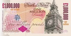 One Million Pound Note - Great Joke For Xmas/Birthday Cards Great Jokes, Money Notes, Christmas Jokes, Dollar Money, Wealth Affirmations, Pocket Money, One Pound, One In A Million, Law Of Attraction