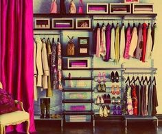 good idea for the closet/wardrobe if you dont have much to put for furniture. looks fancy