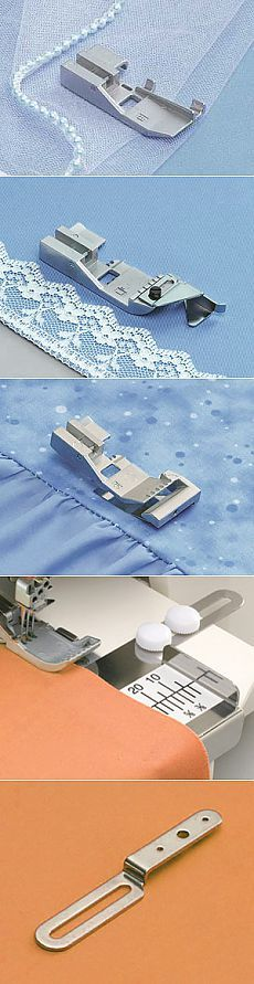 Accessories for sewing machines and overlock.