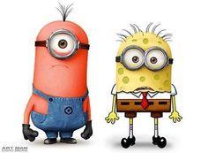 Minions Minions Minions, Minions Love, Minion Art, Evil Minions, Minion Jokes, Minions Quotes, Spongebob Memes, Spongebob Patrick, Square Pants