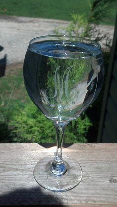 Personalized Etched Wine Glass by Just4ubyKim on Etsy, $14.00