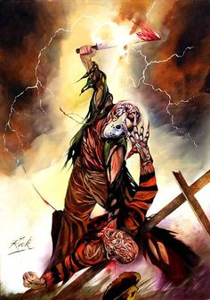 Freddy and Jason art by Rick Melton