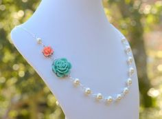 Bridesmaid Jewelry Turquoise and Coral Orange by RusticGem on Etsy, $42.00