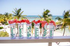 Maid of Honor + Bridesmaid gift ideas for destination wedding. Beach dockside destination wedding in Key West.    Seen on: http://www.jetfeteblog.com/destination-weddings/key-west-dock-wedding-pastel-colors    Photos: http://www.mikebphotography.com/
