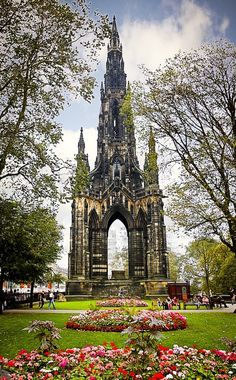 Scott Monument in Princes St Gardens, Edinburgh, Scotland