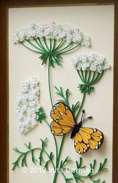 Paper quilling ideas: love this dandelion fluff idea for a paper quilling pattern!