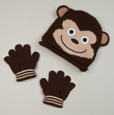 Monkey Hat and Gloves