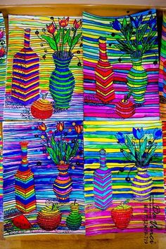 Image gallery – Page 75646468726396996 – Artofit Middle School Art Projects, 7th Grade Art, Motif Art Deco, Art Lessons Elementary, Op Art Lessons, Elementary Art Rooms, Ecole Art, High Art, Elements Of Art