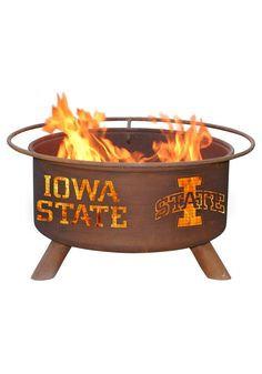Shop the Patina Mosaic Santa Fe Fire Pit for all of your backyard or outdoor heating needs. Metal Fire Pit, Wood Burning Fire Pit, Oklahoma State Cowboys, Iowa State Cyclones, Wyoming Cowboys, Fire Pit Wayfair, Fire Pit Grill, Fire Pits, Bbq Grill