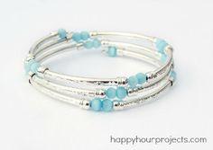 Bangles and Coils Bracelet | AllFreeJewelryMaking.com