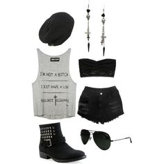 Im not a bitch. I just have a low bullshit tolerance. Hipster punk outfit.
