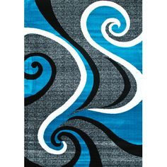 Found it at Wayfair.ca - Abstract Turquoise Area Rug
