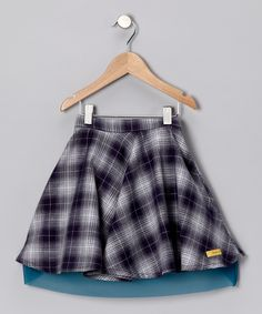 Blue Plaid Skirt - #zulily #fall essentials