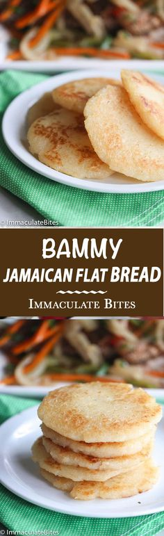 Bammy -A great tasting vegan, paleo , and grain free flat bread made with grated cassava and dipped in coconut milk and fried until golden brown.