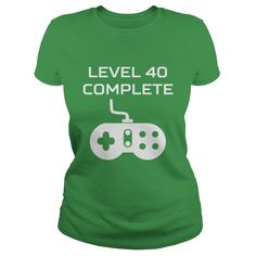 This Level 40 Complete Video Games 40th Birthday design is the perfect birthday gift idea for gamers.