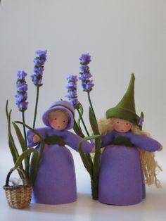 Sommer - Lavendel - Blumenkind - Jahreszeitentisch - ein Designerstück von Katjas-Puppenstuebchen bei DaWanda