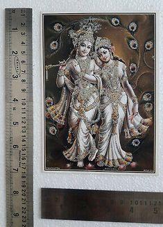 RADHA KRISHNA DANCE Together, Om Aum - POSTER (Big Size: 20 x 29 inches) - $6.97 | PicClick Shree Krishna, Radhe Krishna, Lord Krishna, Lakshmi Images, Foil Paper, Metallic Paper, Hinduism, Dance, Bedroom