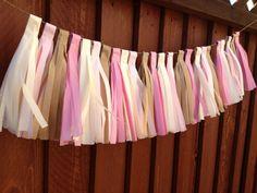 Garland Tissue Paper Garland decoration  by SweetandSavvyDesigns, $30.00
