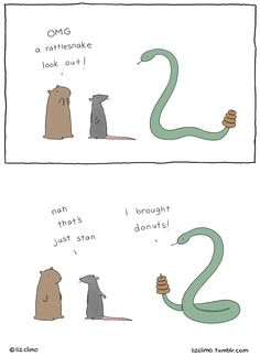 When she's got time off from The Simpsons, Liz Climo turns out the most adorable comic drawings ever. Take a look at these comics. Funny Cute, The Funny, Hilarious, Liz Climo Comics, Simpsons Artist, The Meta Picture, Humor Grafico, Just For Laughs, Funny Comics