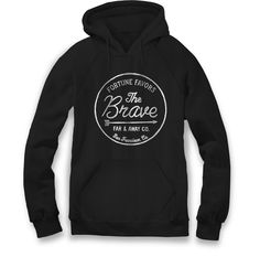 Fortune Favors the Brave - Unisex Hooded Sweatshirt – farandawayco