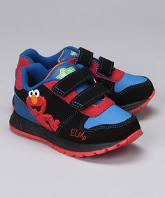 Take a look at this Black Elmo Sneaker by Iconic Characters: Kids' Shoes on #zulily today!