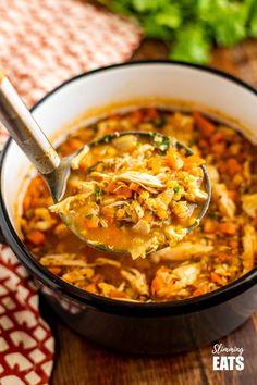 Chicken Lentil Soup, Lentil Soup Recipes, Chicken Soup Recipes, Healthy Soup Recipes, Cooking Recipes, Thm Recipes, Lentil Stew, Healthy Pastas, Meals
