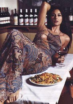 Monica Bellucci --Italian goddess. Please tell me she's the main course
