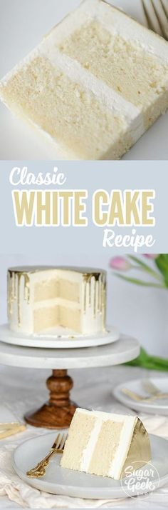 What flavor is a white cake? You might be surprised. This white cake recipe is the perfect classic version. Light and fluffy, moist and full of flavor.