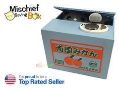 New #itazura automated kitty #japanese gray cat #steal coin piggy money bank kitt,  View more on the LINK: http://www.zeppy.io/product/gb/2/291637049744/