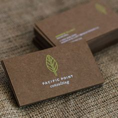 Elegantly produced Brown Kraft Business Cards with White & Neon Green Silkscreen Printing. Produced by Jukebox Print Luxury Business Cards, Unique Business Cards, Creative Business, Simple Business Card Design, Vegetal Concept, Kreative Jobs, Typographie Logo, Business Card Maker, Presentation Cards