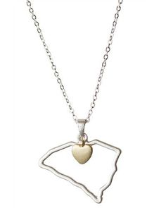 A South Carolina necklace for the one you love! Found on  www.mycentsofstyle.com // yeahtHATgreenville