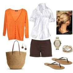 Orange and Brown. Made trade out for chocolate colored pants