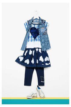 Vestido azul Desigual de manga corta Antananarivo #circulogpr #desigual #fashion #modainfantil