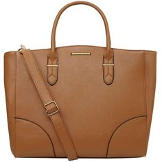 Dorothy Perkins Tan Oversized Compartment Tote ($49) ❤ liked on Polyvore featuring bags, handbags, tote bags, brown, tote purses, oversized tote, oversized handbags, oversized purses and brown purse